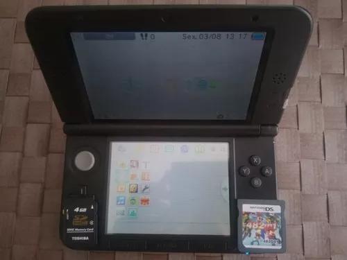 Nintendo 3ds xl preto + sd 4gb + 8gb com 428 jogos perfeito