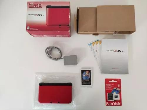 Nintendo 3ds xl vermelho completo + 32gb + jogos + garantia
