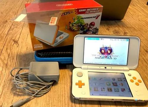 Nintendo new 2ds xl + 3000 jogos + 32gb + roda 3ds + fonte++