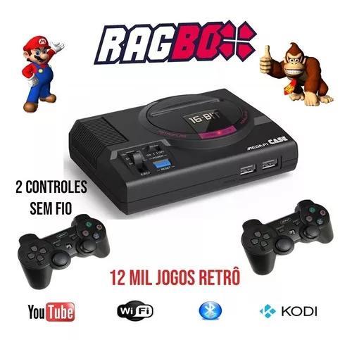 Ragbox 64 mega drive - 12 mil jogos - 2 controles s