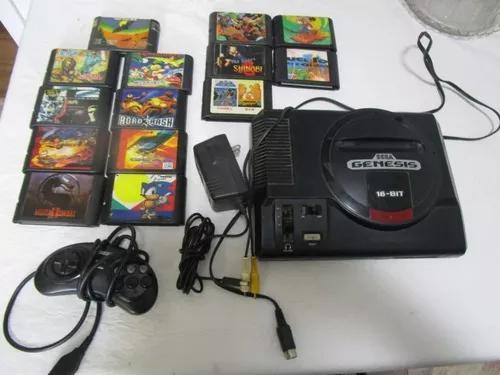Sega genesis mega drive funcionando 14 fitas 110 volts