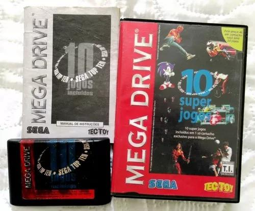 Sega top ten - 10 super jogos - original tectoy - completo