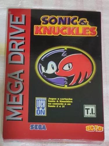 Sonic & knuckles - caixa repro - mega drive