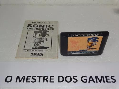 Sonic The Hedgehog Com Manual Original Para Mega Drive