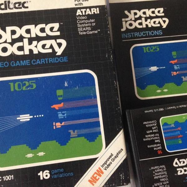 Atari 2600 space jockey original vidtec completo raro