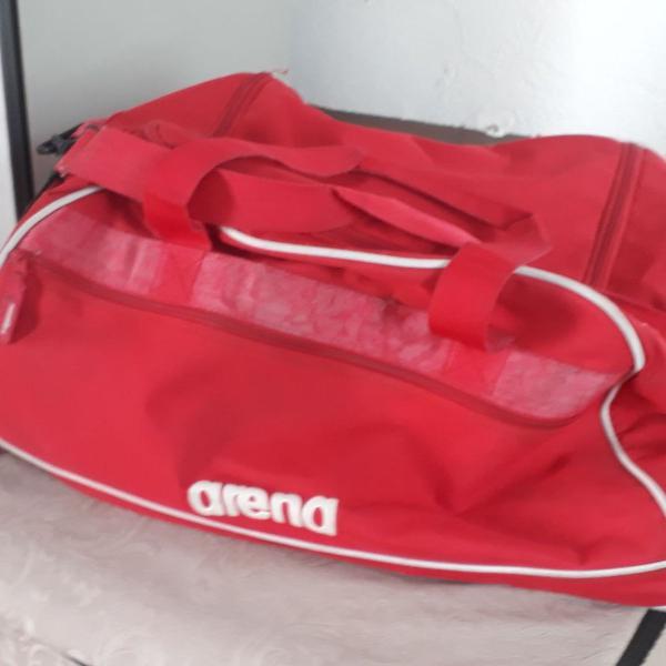 Bolsa viagem academia arena media vermelha
