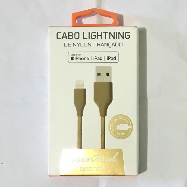 Cabo lightning iphone - novo com nf