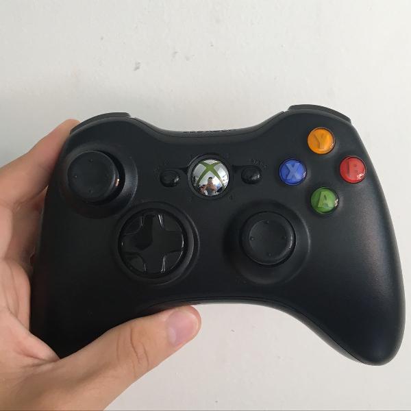 Controle de xbox 360 + adaptador pra pc