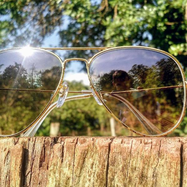 Culos de sol rayban aviador 3026 (g) lentes de cristal