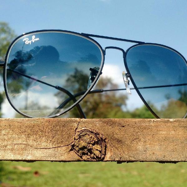 Culos de sol rayban aviador tradicional 3026 (g) lentes de