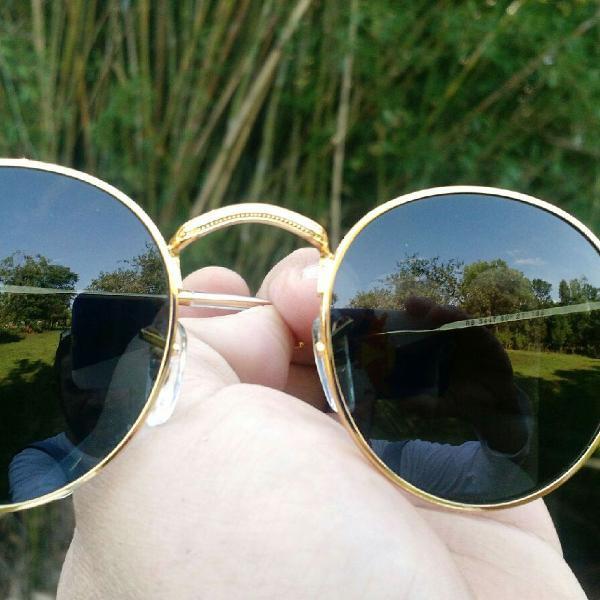 Culos de sol rayban round lentes cristal proteção