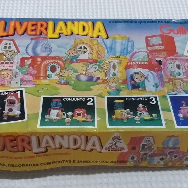 Gulliverlandia casa,café,tv e relógio gulliver anos 80