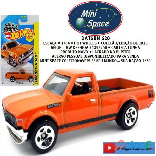 Hot wheels datsun 620 pickup cor laranja 1/64
