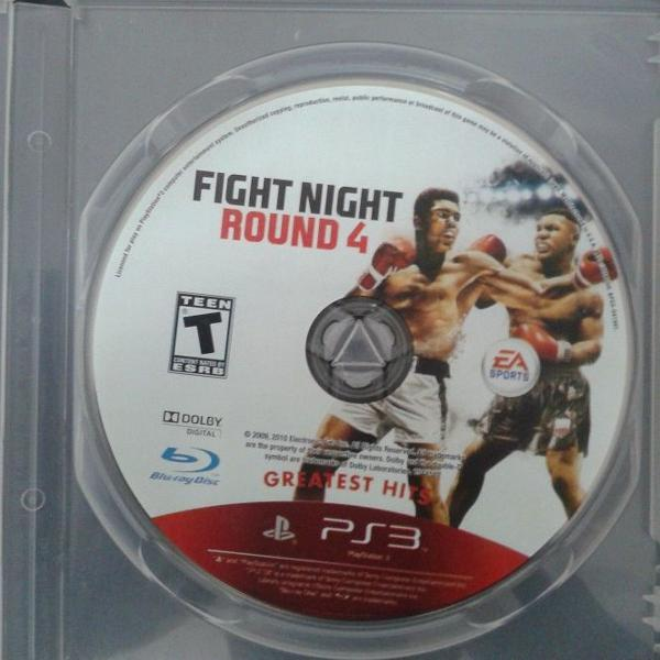 Jogo original ps3 - fight night round 4 - mídia física