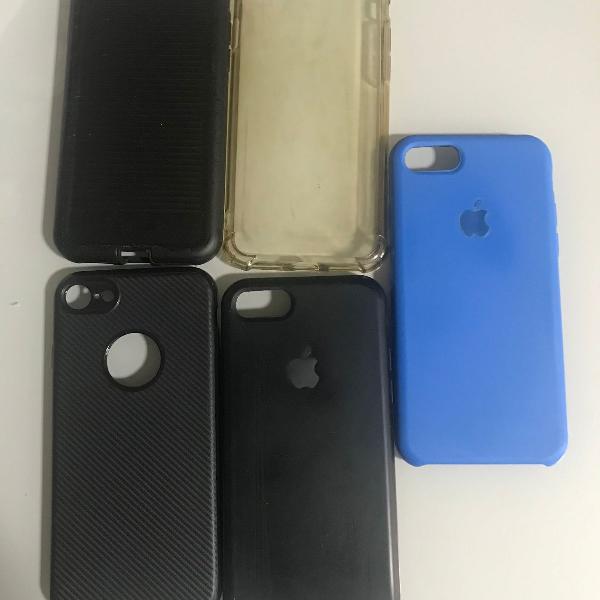 Kit com cinco capas/case para iphone 7
