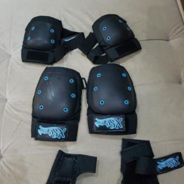 Kit proteção para ciclismo, patins, skate