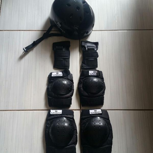 Kit proteção patins/skate/bicicleta
