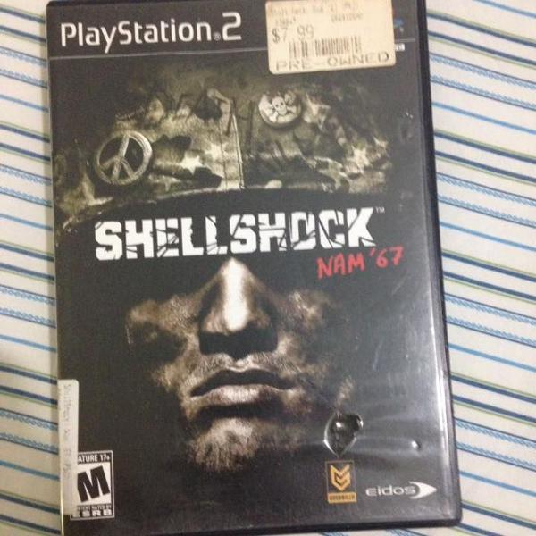 Playstation 2 shell shock nam' 67 original midia fisica r$95