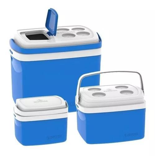 3 caixa térmica cooler 32 l 12 l 5 litros combo - soprano