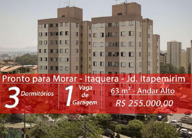 Apartamento de 63 m², 3 dormitórios, 1 vaga em Jardim