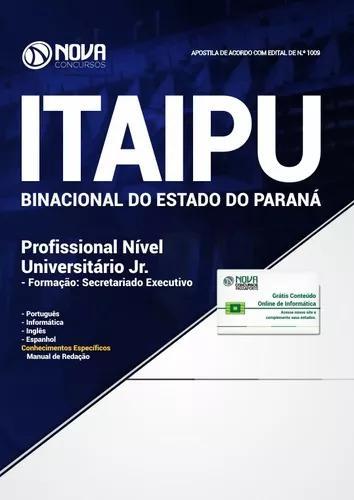 Apostila itaipu pr 2018 profissional nível universitário