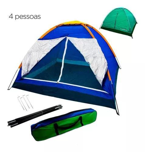 Barraca Camping 4 Pessoas Acampamento Bolsa Iglu Tenda