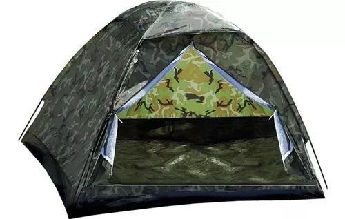 Barraca camping camuflada militar 4 lugares - menor preço