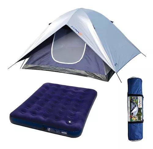 Barraca camping luna 4 pessoas 009037 + colchao casal