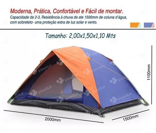 Barraca iglu 3 pessoas camping saco transporte