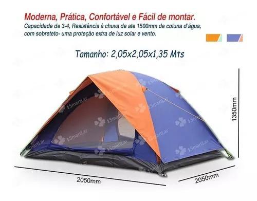 Barraca iglu 4 pessoas camping c/saco transporte frete