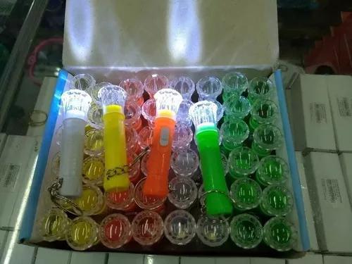 Caixa de mini lanternas led - lanterninhas chaveiro