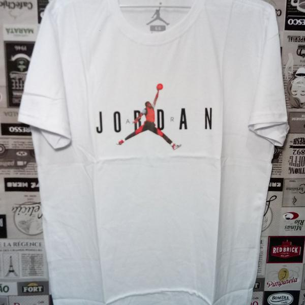 Camiseta jordan nba 100% algodão tm gg branca
