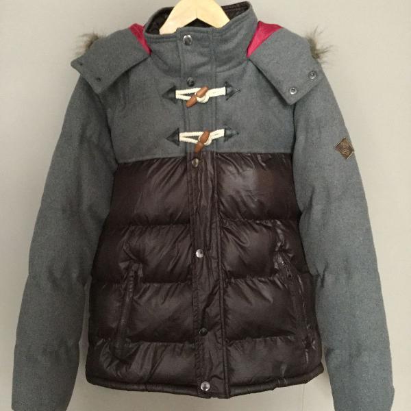 Jaqueta de nylon e lã - duffel coat style