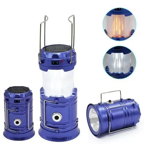 Lampião luminária lanterna solar led carrega celular