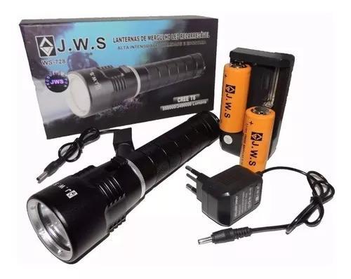 Lanterna led cree t6 para mergulho jws ws-728 1888000w
