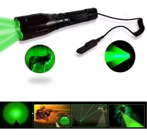 Lanterna tática luz verde foco redondo jws p/ caça pesca