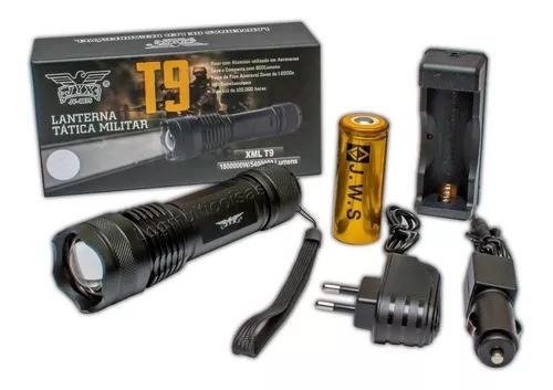 Lanterna Tätica T9 Mais Forte Do Mercado 5.400.000l 4 Leds