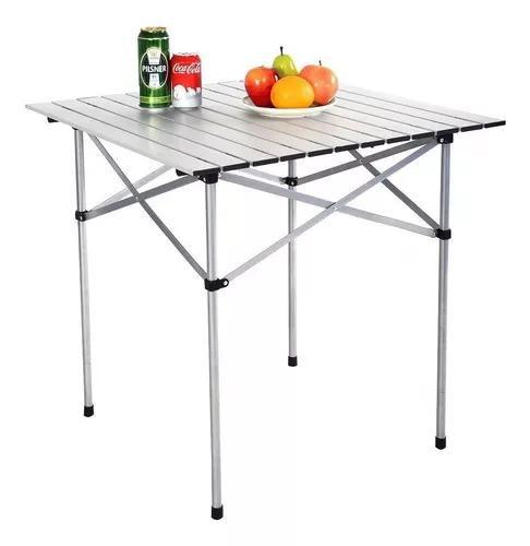 Mesa camping desmontável aluminio super portátil