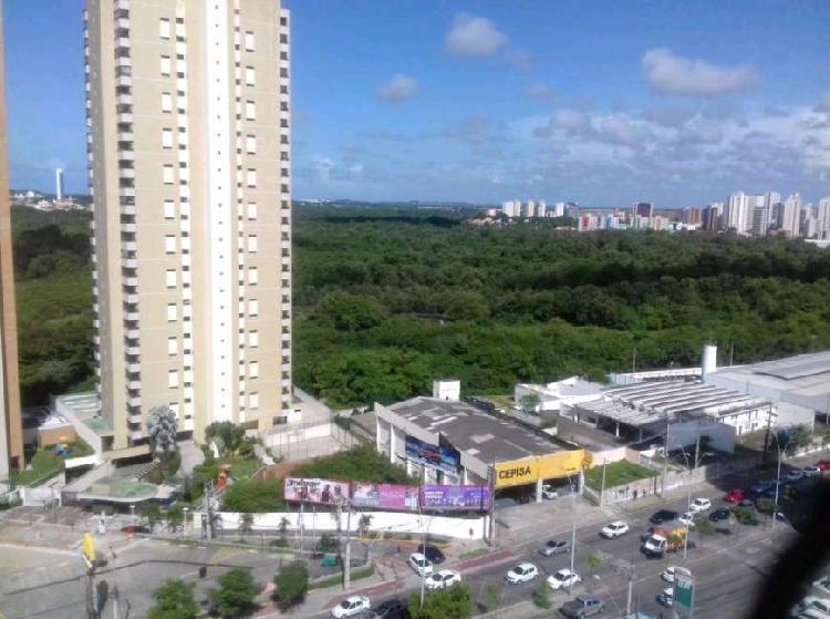 Vista total parque do cocó , 3 suítes,andar alto, varanda,
