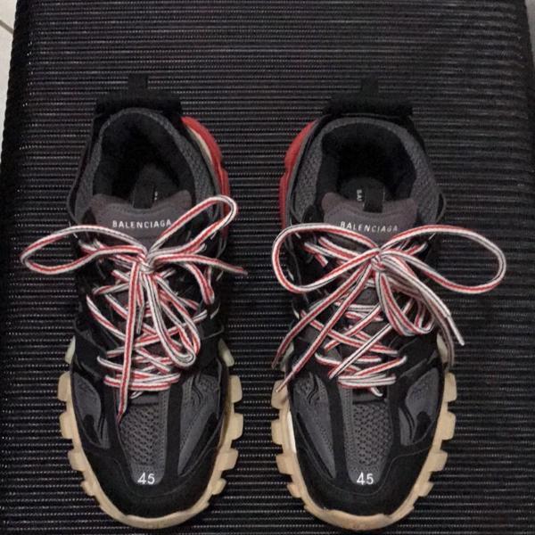 Balenciaga track gomma black red