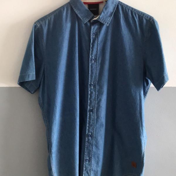Blusa jeans manga curta reserva