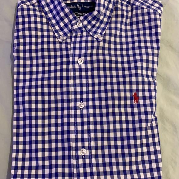 Camisa social quadriculada polo ralph lauren
