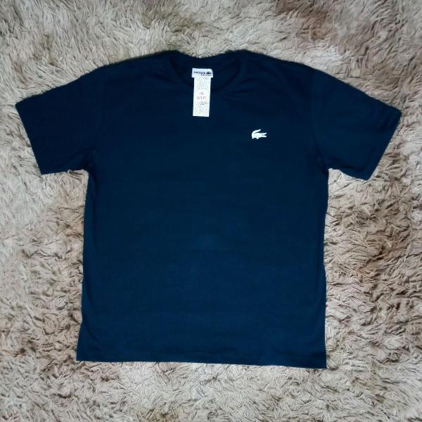 Camiseta básica da lacoste, azul marinho