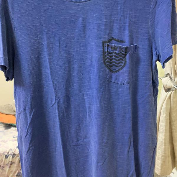 Camiseta osklen masculina m azul estonado
