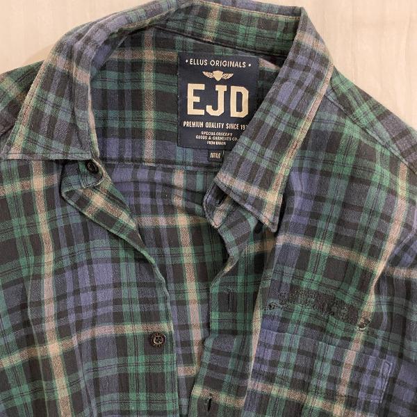 Ellus xadrez lumberjack verde escuro e azul
