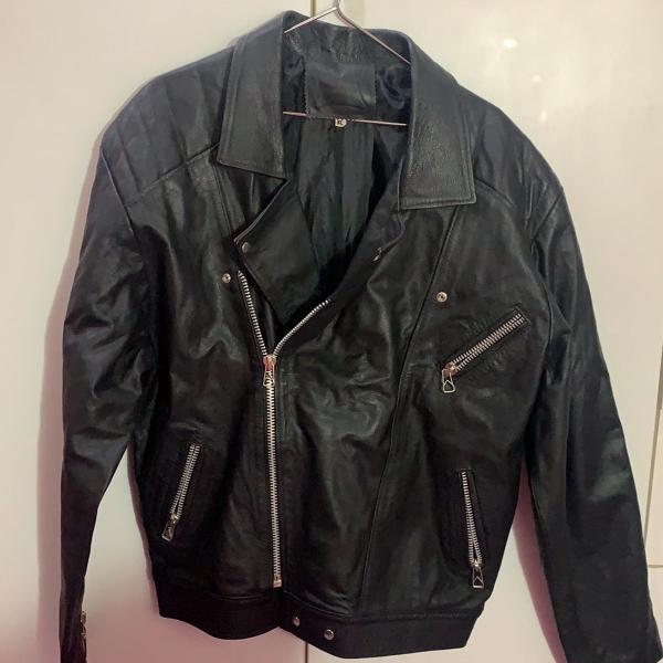 Jaqueta couro masculina
