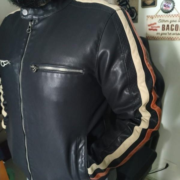 Jaqueta de couro wilson cycle importada motoqueiro unissex