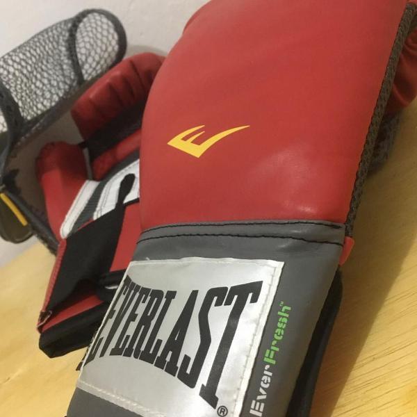 Luva de boxe everlast pro style + bandagem