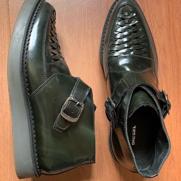 Sapato masculino preto diesel