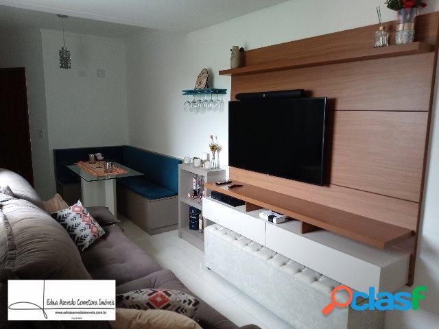 Apartamento s/cond.cob.2 dorms.1 suíte - 1 vg. jd.sto.alberto - sto andré.
